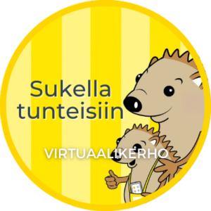 Tuotekuvassa Sukella tunteisiin -virtuaalikerhon osaamismerkki